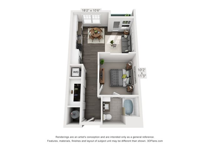 Studio 2 Floor Plan 2