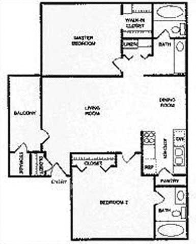 2A | Two Bedroom Floor Plan 4