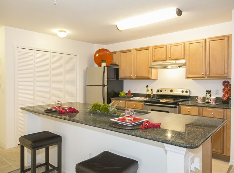 Vista Pines Apartments for rent in Orlando, FL. Make this community your new home or visit other Concord Rents communities at ConcordRents.com. Kitchen