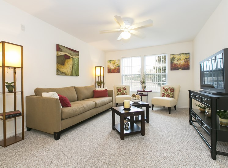 Vista Pines Apartments for rent in Orlando, FL. Make this community your new home or visit other Concord Rents communities at ConcordRents.com. Living room