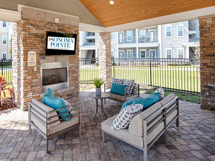 Sonoma Pointe Outdoor Pavilion with Grilling Stations, Fireplace and Community Sharing Spaces