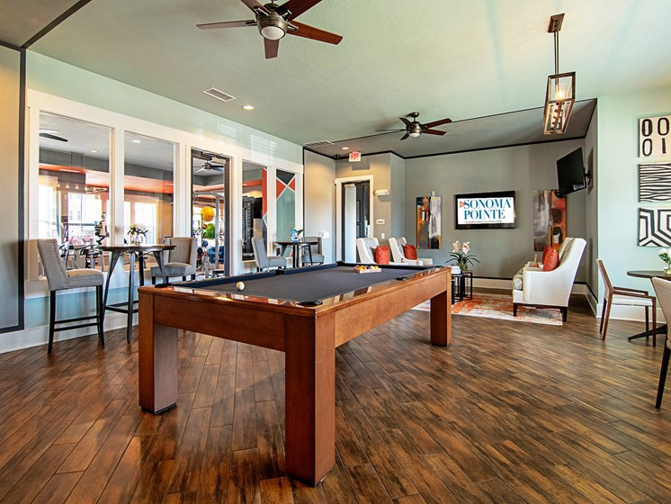 Sonoma Pointe Resident Lounge with Billiards