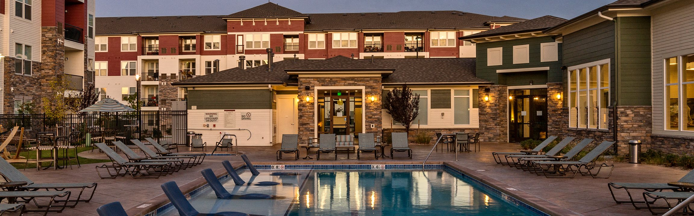 Enclave at Cherry Creek pool area