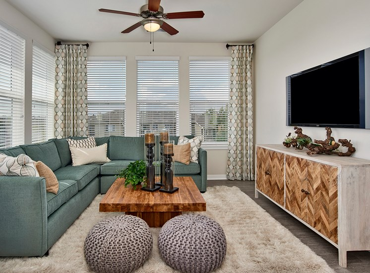 Enclave at Cherry Creek Apartments - Staged living room interior