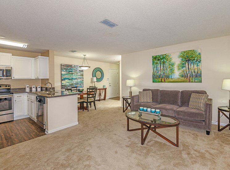 The Colony at Deerwood Apartments spacious living room