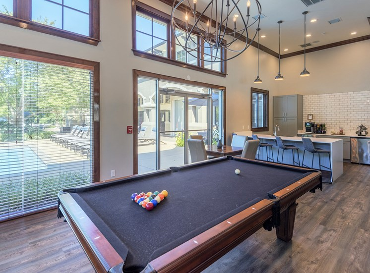 The Estates at River Pointe - Billiards table in the resident clubhouse