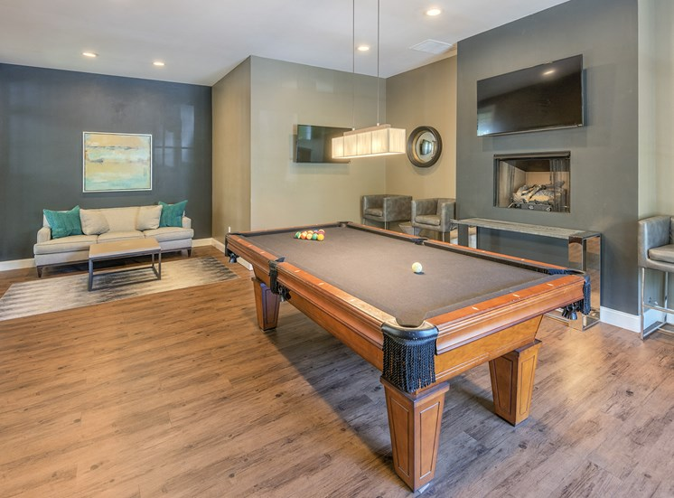 Belle Harbour Apartments - Recreational room with billiards table