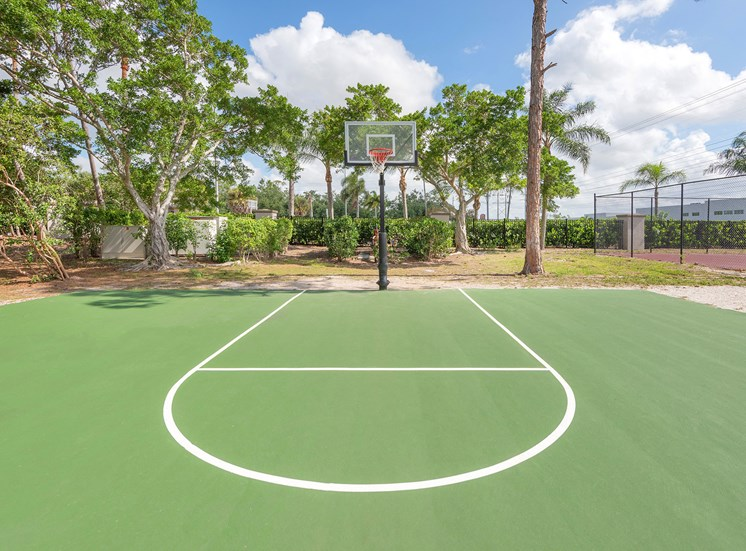 La Costa Apartments lighted basketball court