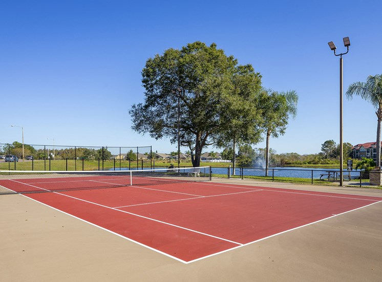 Andover at Cross Creek Apartments lighted tennis court
