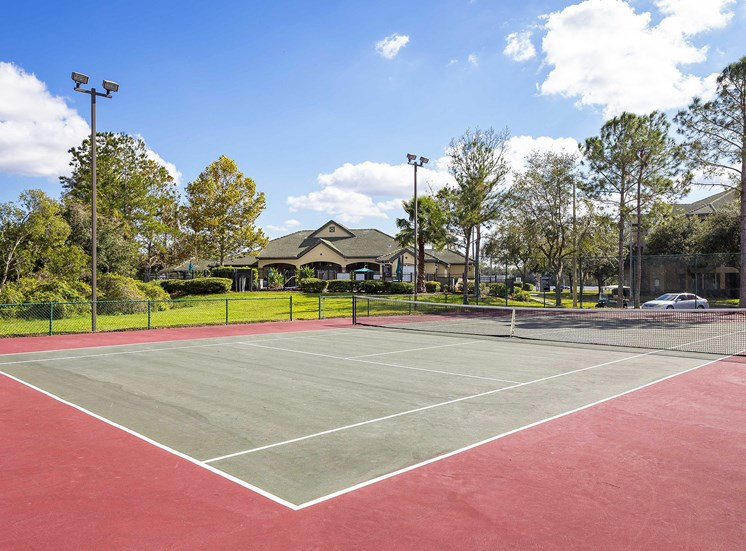 Addison Park at Cross Creek Apartments - Lighted tennis court