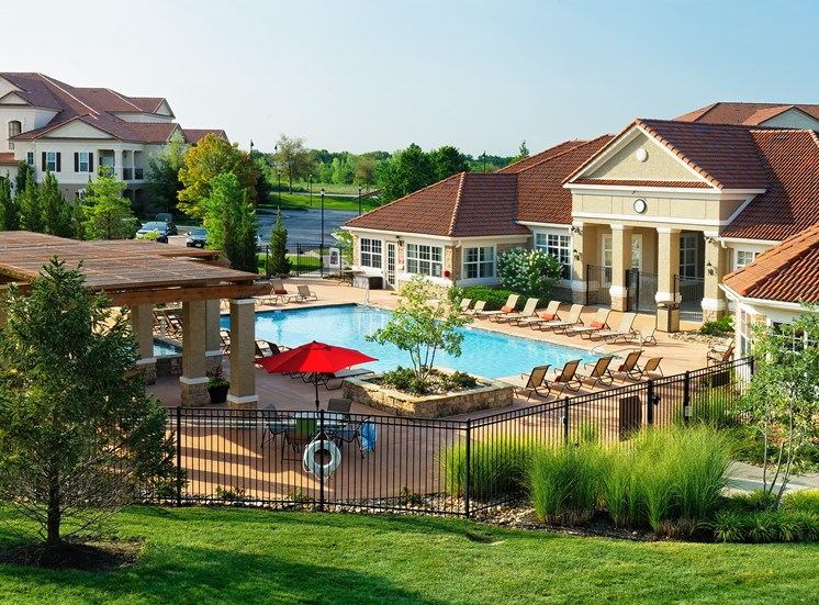 Cordillera Ranch Apartments - Exterior buildings and pool