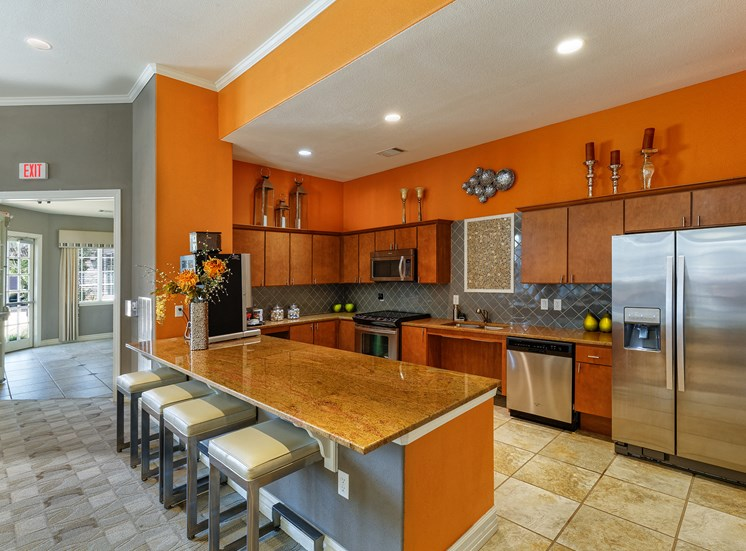 Corbin Greens Apartments - Resident clubhouse kitchen