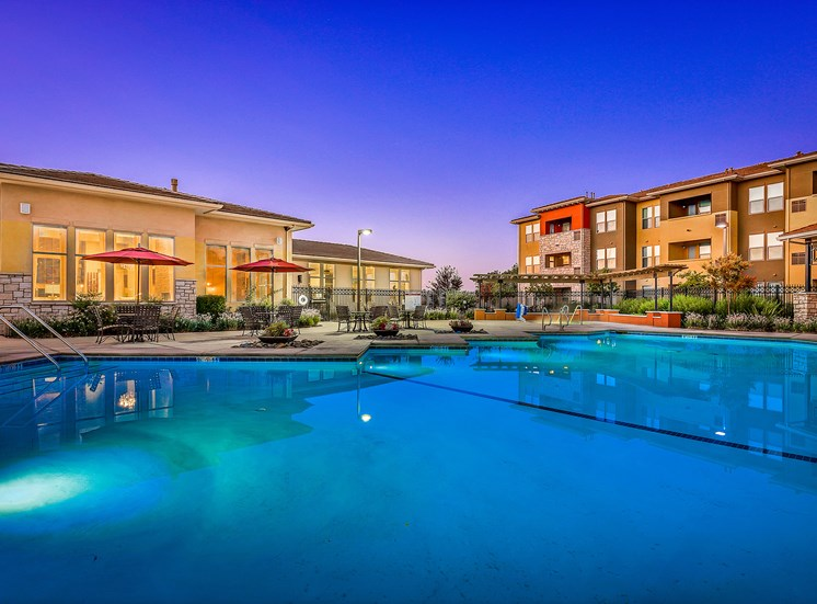 Quinn Crossing Apartments heated saltwater swimming pool