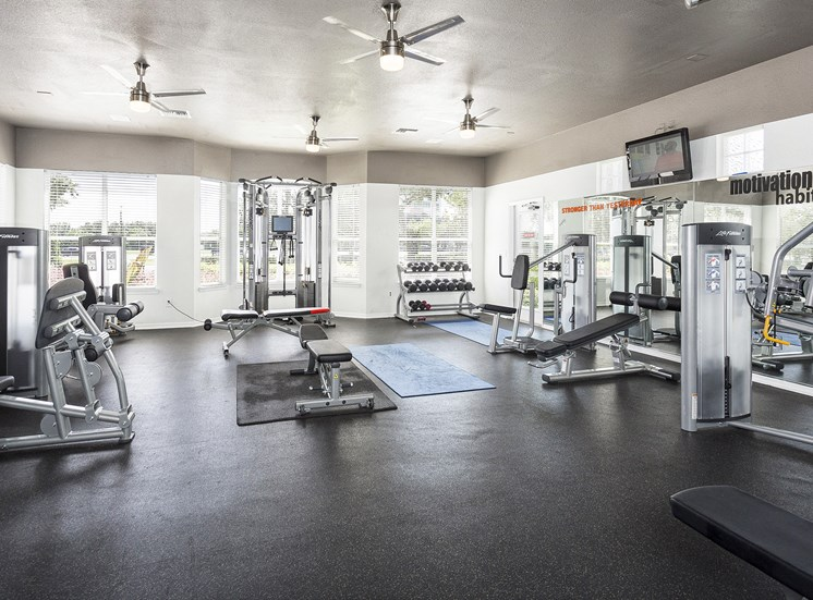 Fitness center includes yoga, strength, cardio and spinning rooms