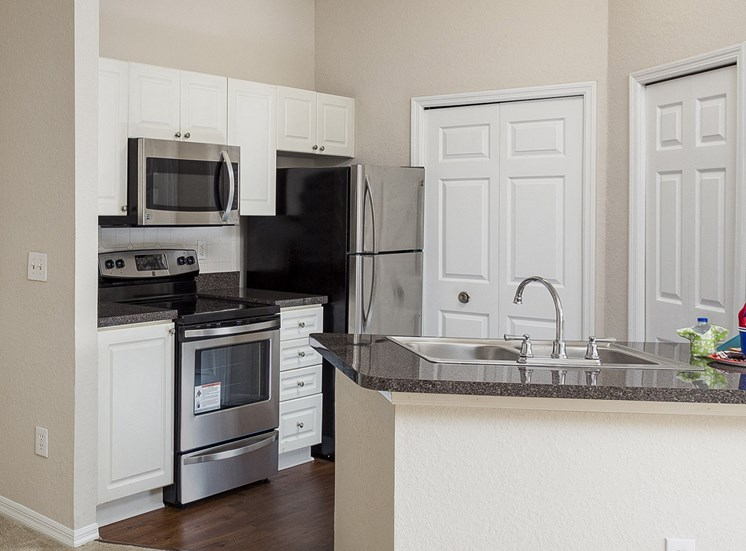 Egrets Landing Apartments - Upgraded stainless steel appliances in select units