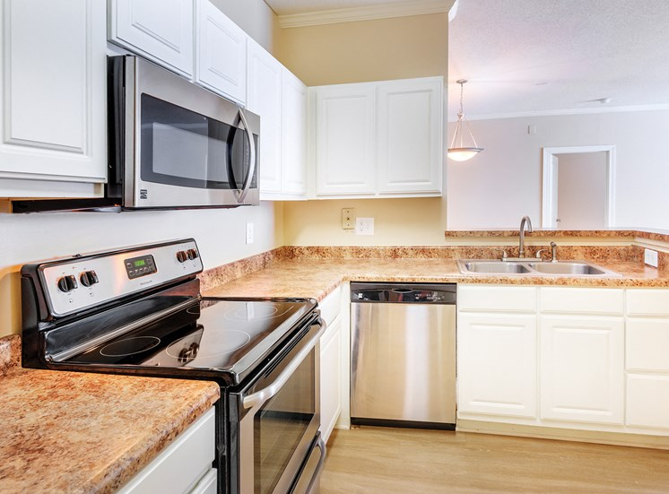 Island Park and Harbor Town Square Apartments - Kitchen interior