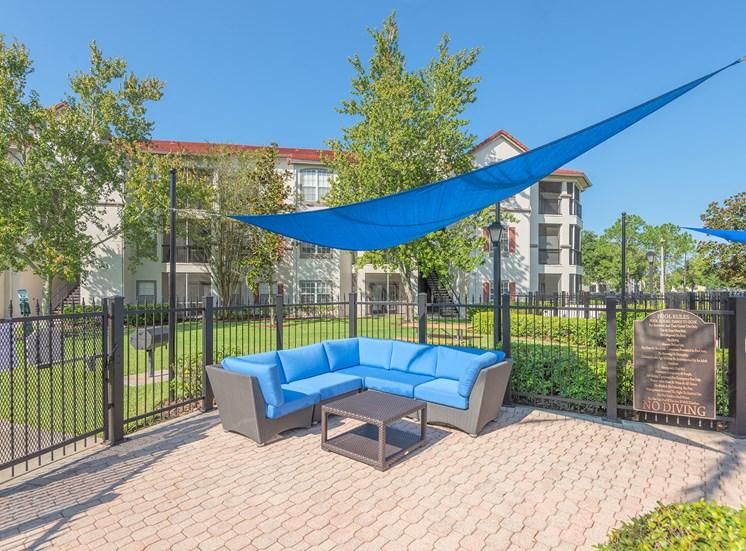 Asprey outdoor seating area