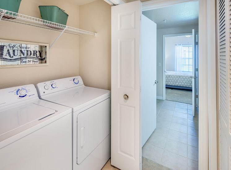 Full-size washer and dryer in all homes