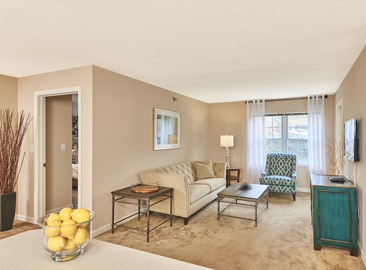 Hampshire Green Apartments - Staged interior - Living room