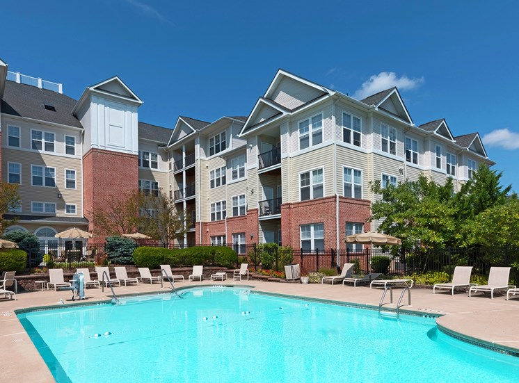 Avenel at Montgomery Square - Resort-style swimming pool with sundeck