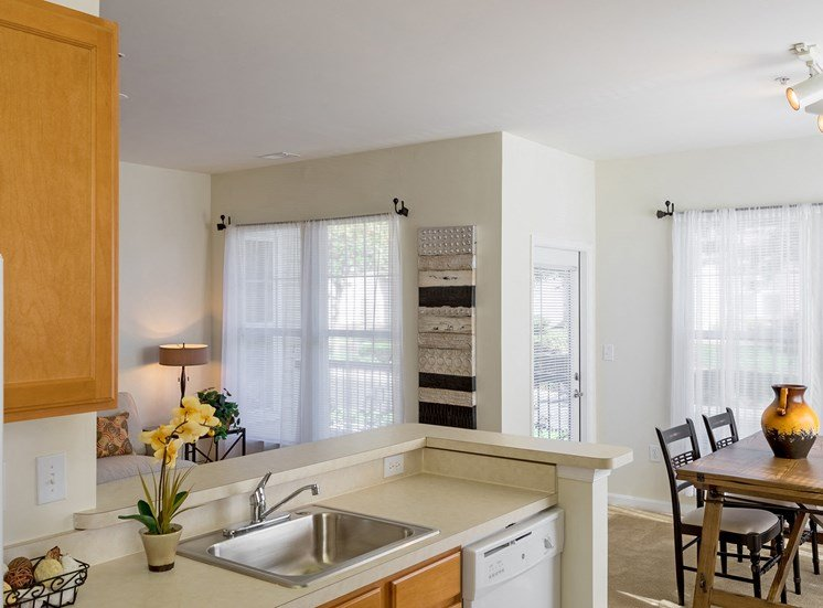 Avenel at Montgomery Square - Staged kitchen and dining