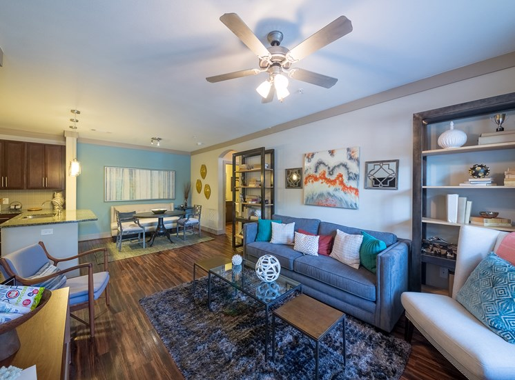 The Oaks at Johns Creek - Wood-style flooring with nine-foot ceilings