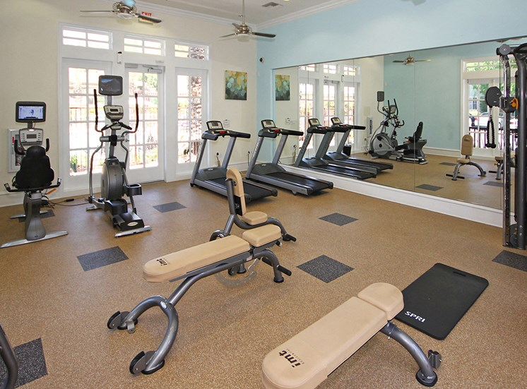 Fitness center gym at Hills of Valencia apartments