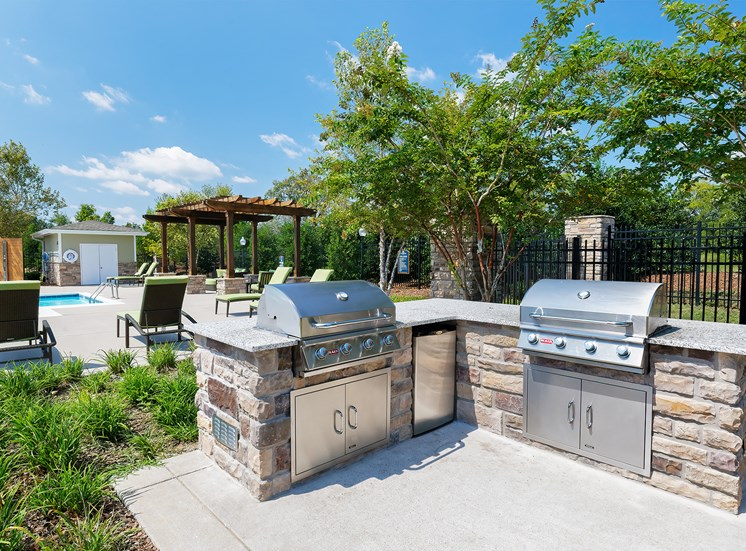 Charcoal grills and picnic areas throughout