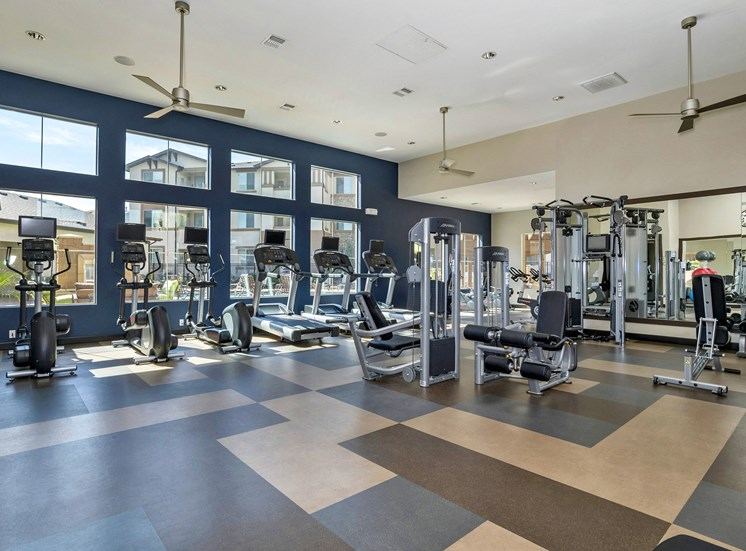 First and Main Apartments fitness center