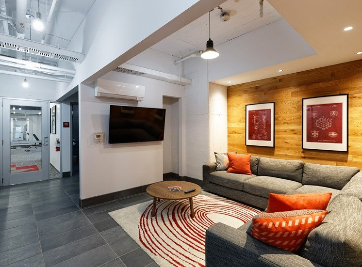 The lounge photo for The KC High Line Apartments in Kansas City, MO