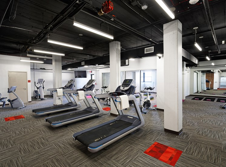 Fitness center for The KC High Line Apartments in Kansas City, MO