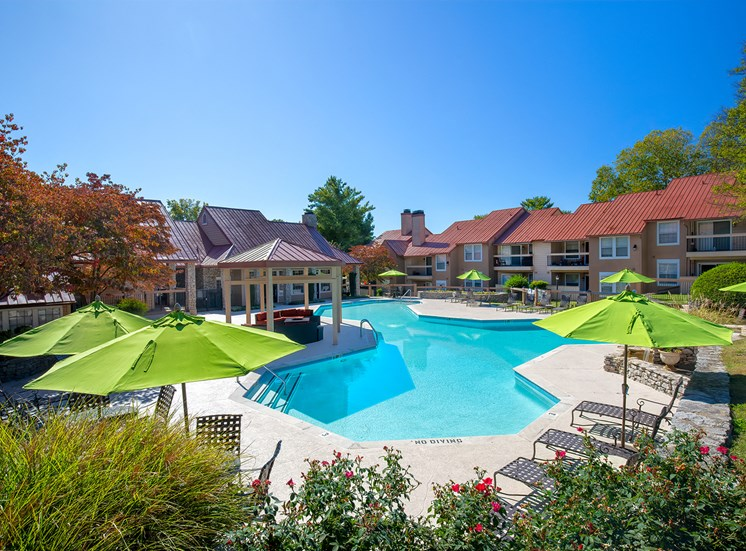 Oakwell Farms Apartments - Resort style pool with sundeck