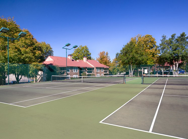 Oakwell Farms Apartments - Lighted tennis courts