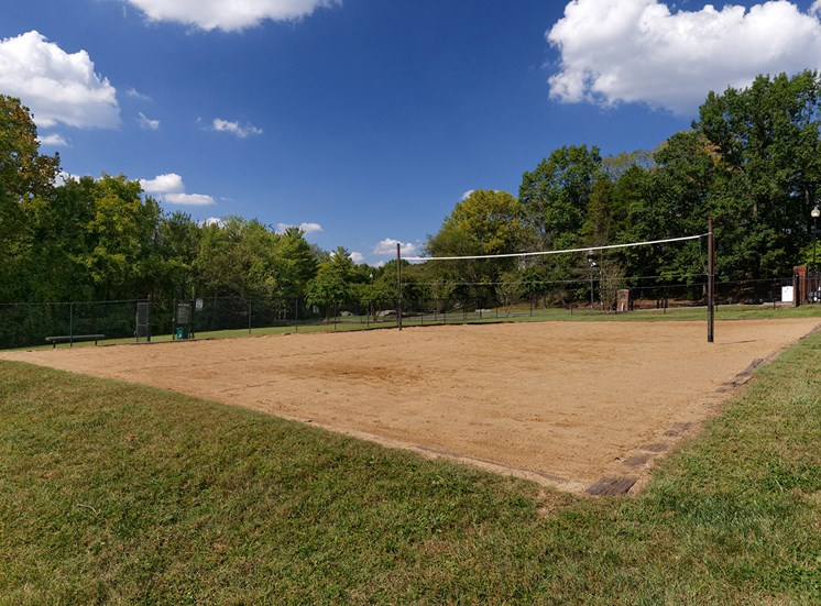 Arbor Hills Apartments sand volleyball court