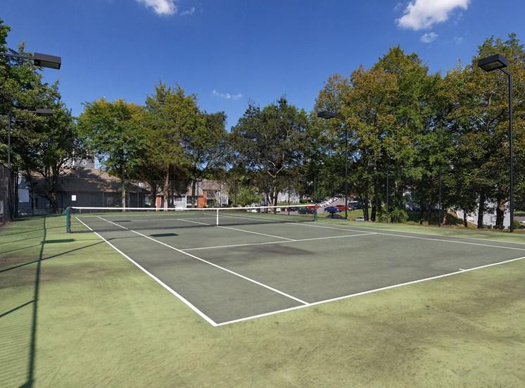 Arbor Hills Apartments lighted tennis court