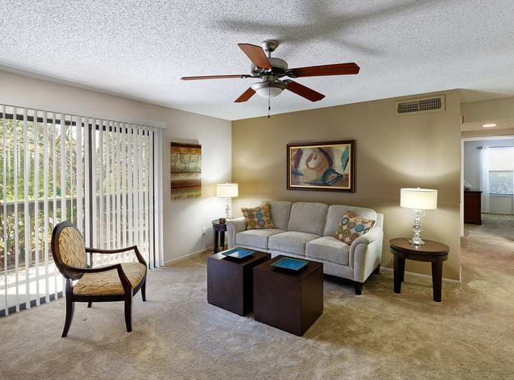 Arbor Hills Apartments - Staged living room
