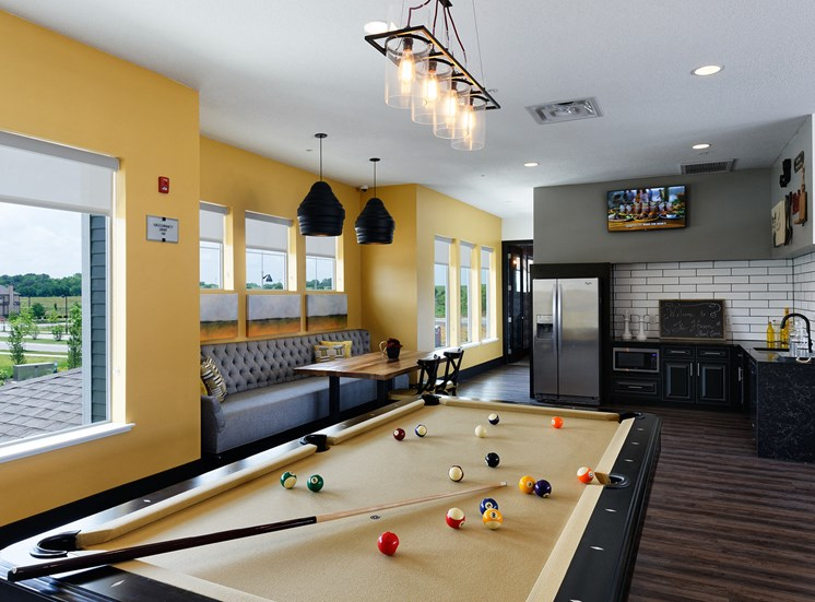 The Haven at Shoal Creek resident game room