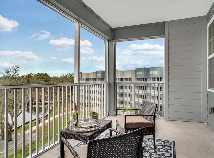 WaterVue at Longwood Apartments for rent in Longwood, FL. Make this community your new home or visit other Concord Rents communities at ConcordRents.com. Lake view balcony