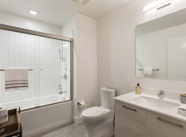 large bathroom with upgraded fixtures at pixon