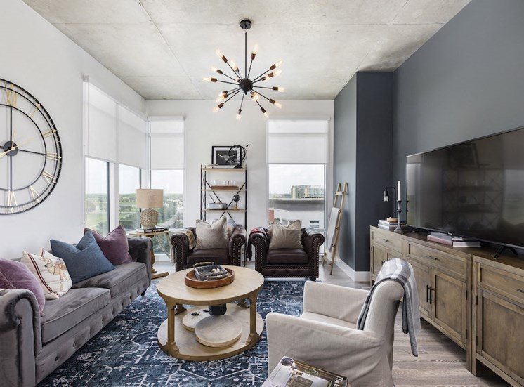 large living room with designer paint
