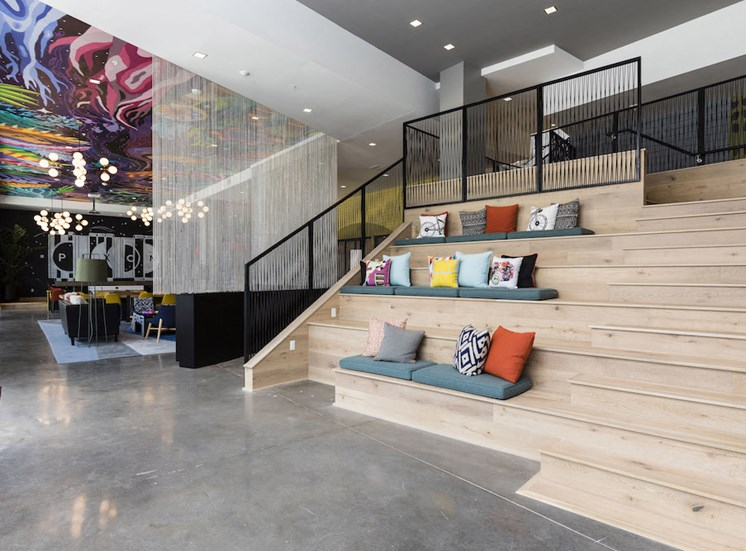 stairs with seating at pixon in lake nona