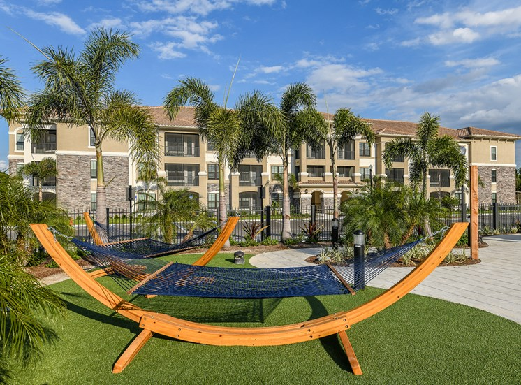 Hammock garden at Anson on Palmer Ranch in Sarasota, FL