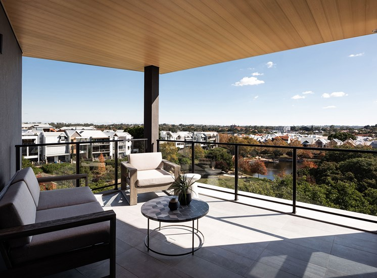 Element 27 - Spacious outdoor living areas with patios or balconies