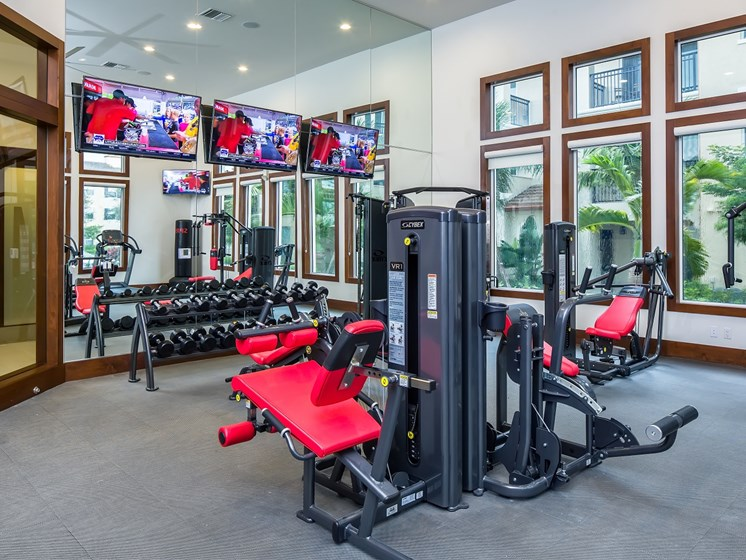 Fitness Center with Yoga/Aerobics room and Virtual Fitness Programs