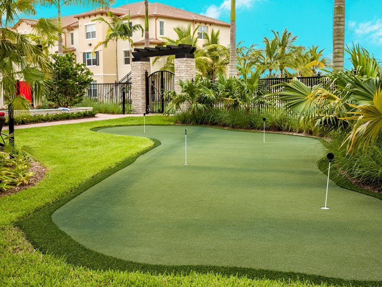Poolside Putting Green