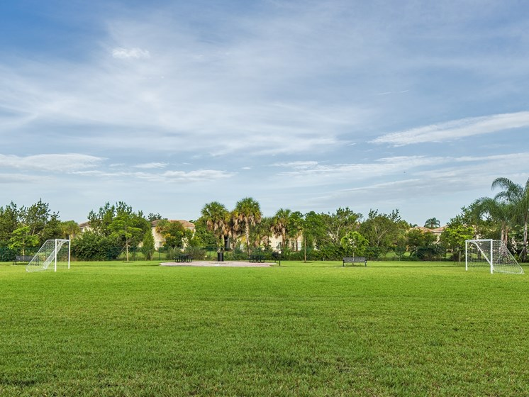 Park with Recreation Fields for Soccer