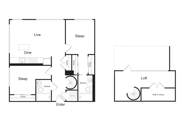 Spacious Floor Plan Options with Lofts!