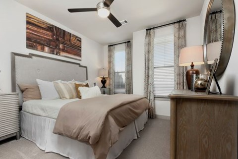 Carpeting & Ceiling Fans in Bedrooms