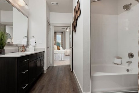 Spacious Bathrooms with Oval soaking tubs