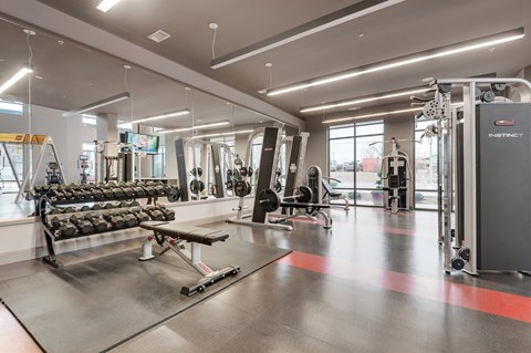 State-of-the-art fitness studio at Retreat at Ironhorse, Tennessee, 37069